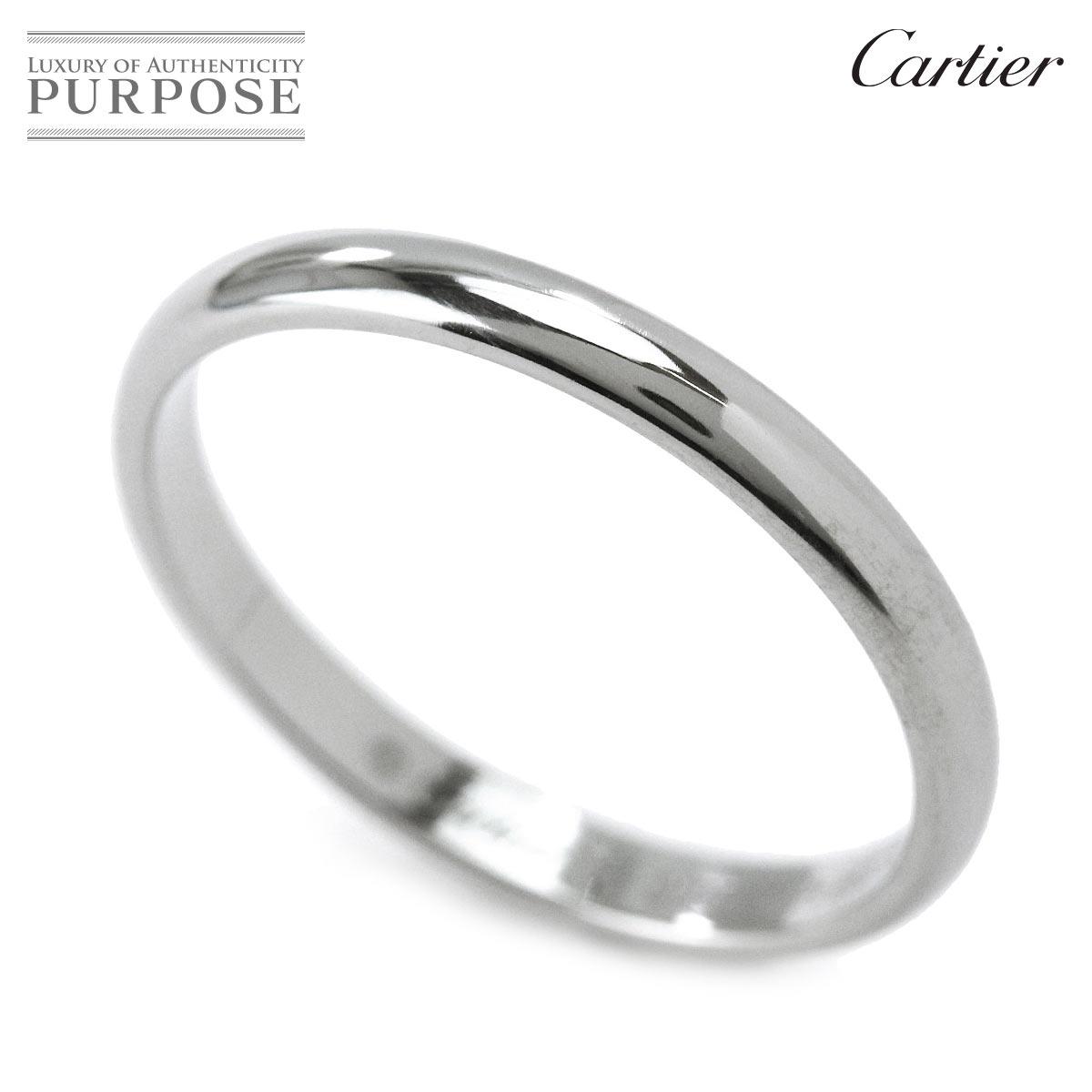 【新品仕上げ】 カルティエ Cartier クラシック #56 リング Pt950 幅2.5mm プラチナ 指輪 【証明書付き】 【中古】