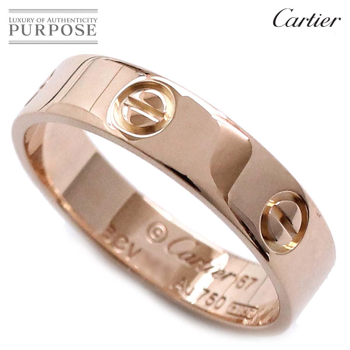 46d609fbb6dd8 Cartier Cartier love ring #67 K18PG 18-karat gold pink gold 750 ring