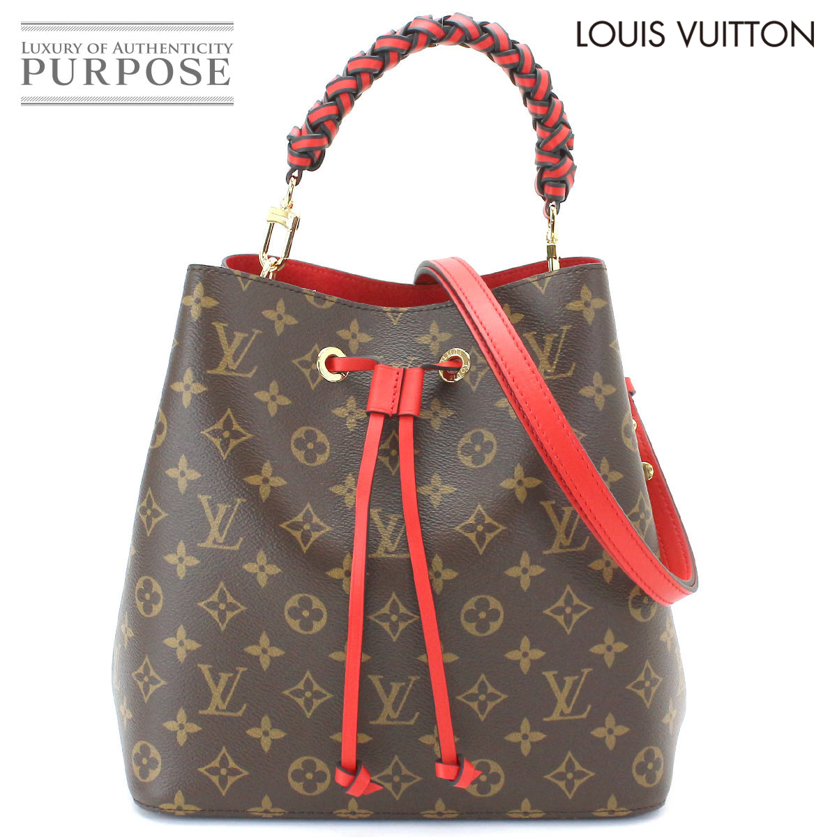 a4084d48f It is Louis Vuitton LOUIS VUITTON monogram neo-Noe 2way hand shoulder bag  brown red M43985 [used] brand [a new article-free]