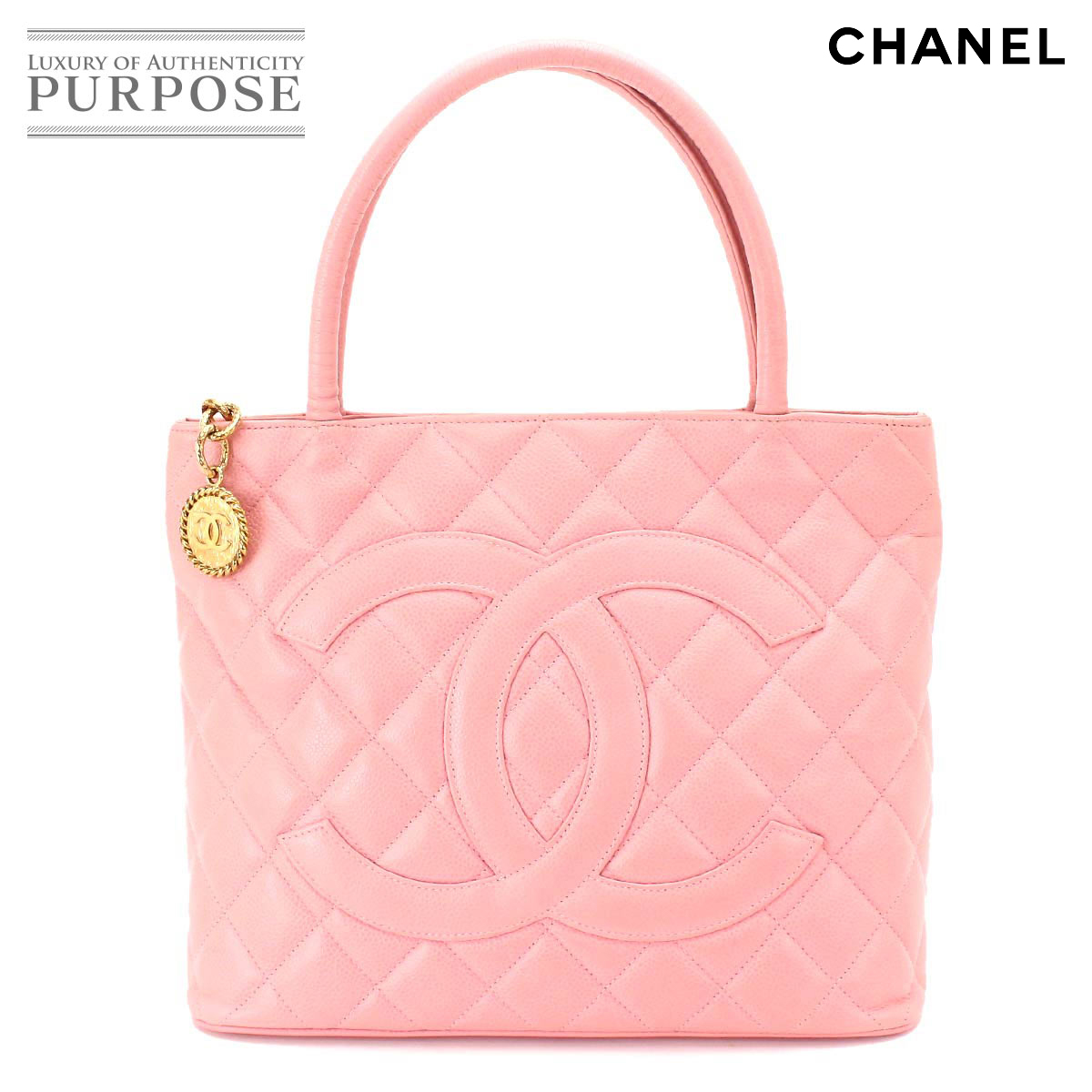 8a177e4a6a10b7 Chanel CHANEL caviar skin reproduction tote bag leather pink A01804 gold  metal fittings [used] brand