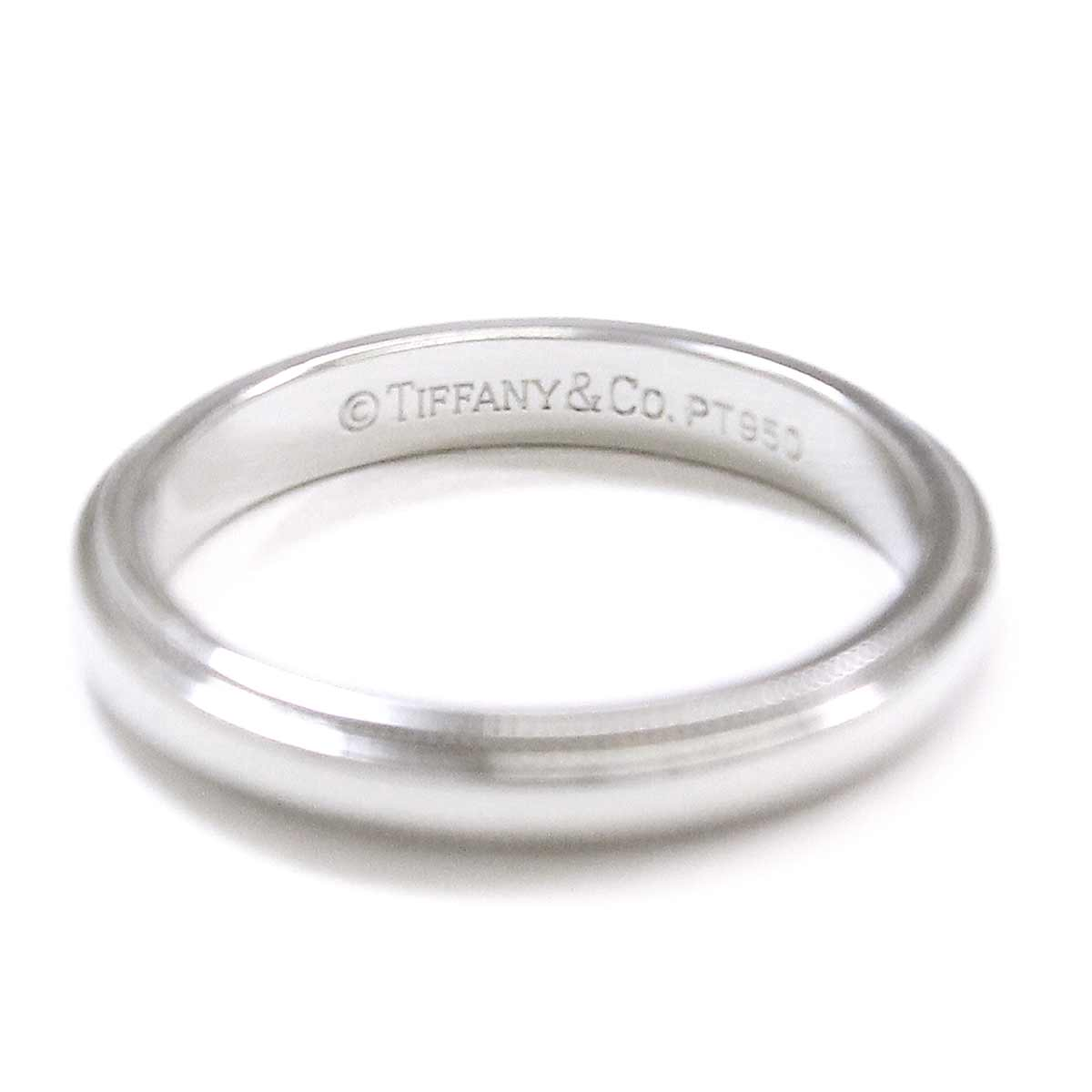 Tiffany mil grain band 11 ring PT950 3mm in width platinum ring TIFFANY&Co