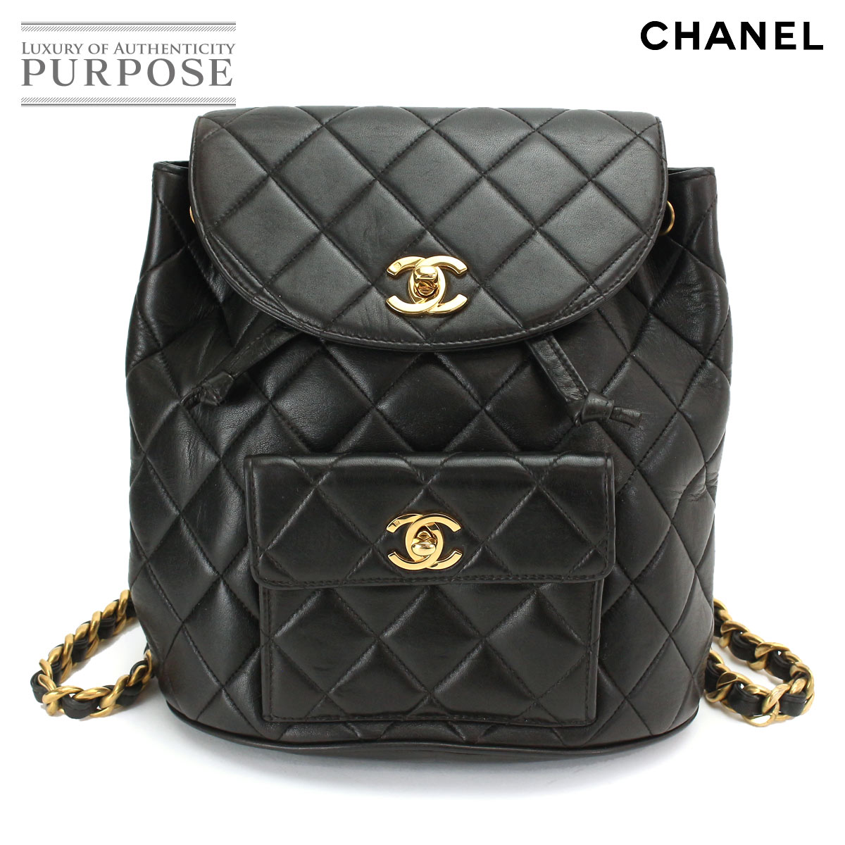71602a632e69 Chanel CHANEL matelasse chain backpack rucksack leather black black [used]  brand