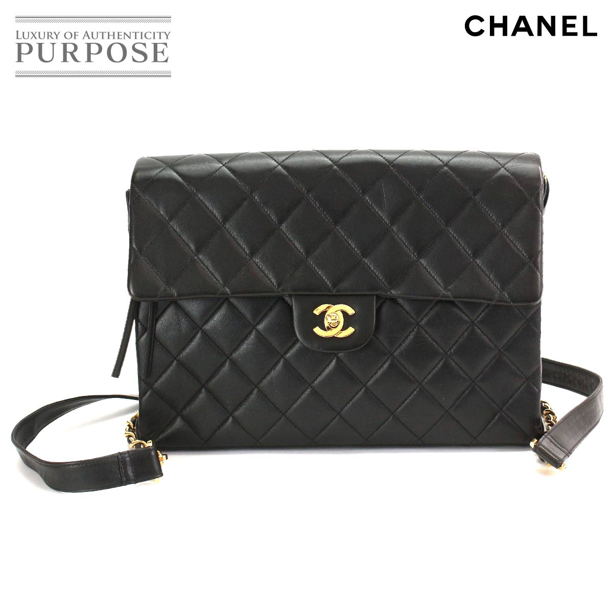 e67945b790ce Chanel CHANEL matelasse chain rucksack backpack leather black gold metal  fittings [used] brand