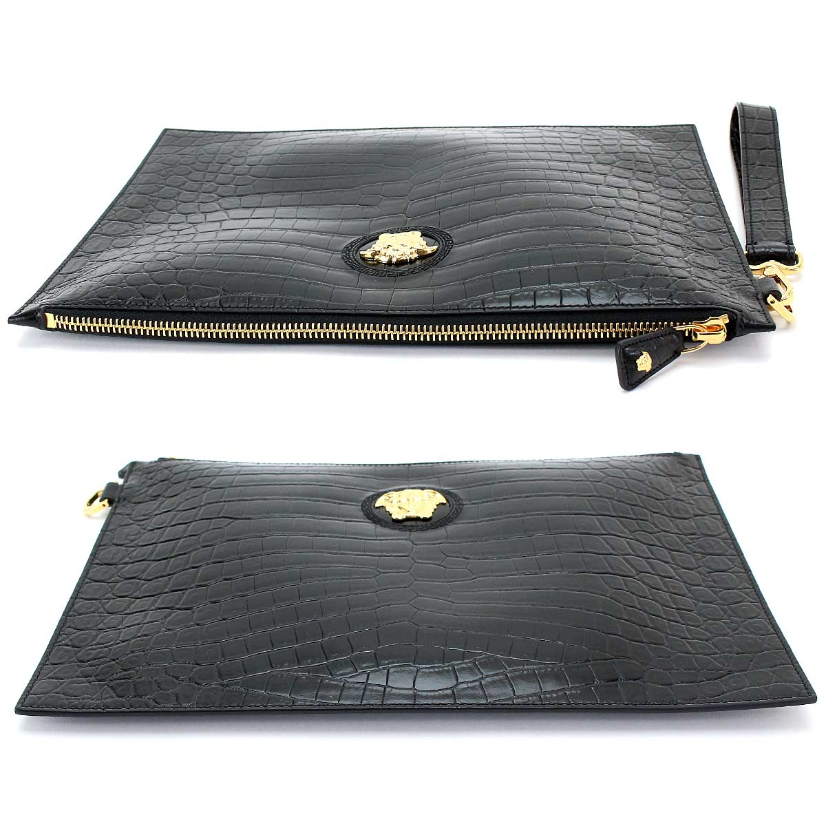 88acd8d1bf ... Versace VERSACE Medusa clutch bag leather type push black DP85102 ...