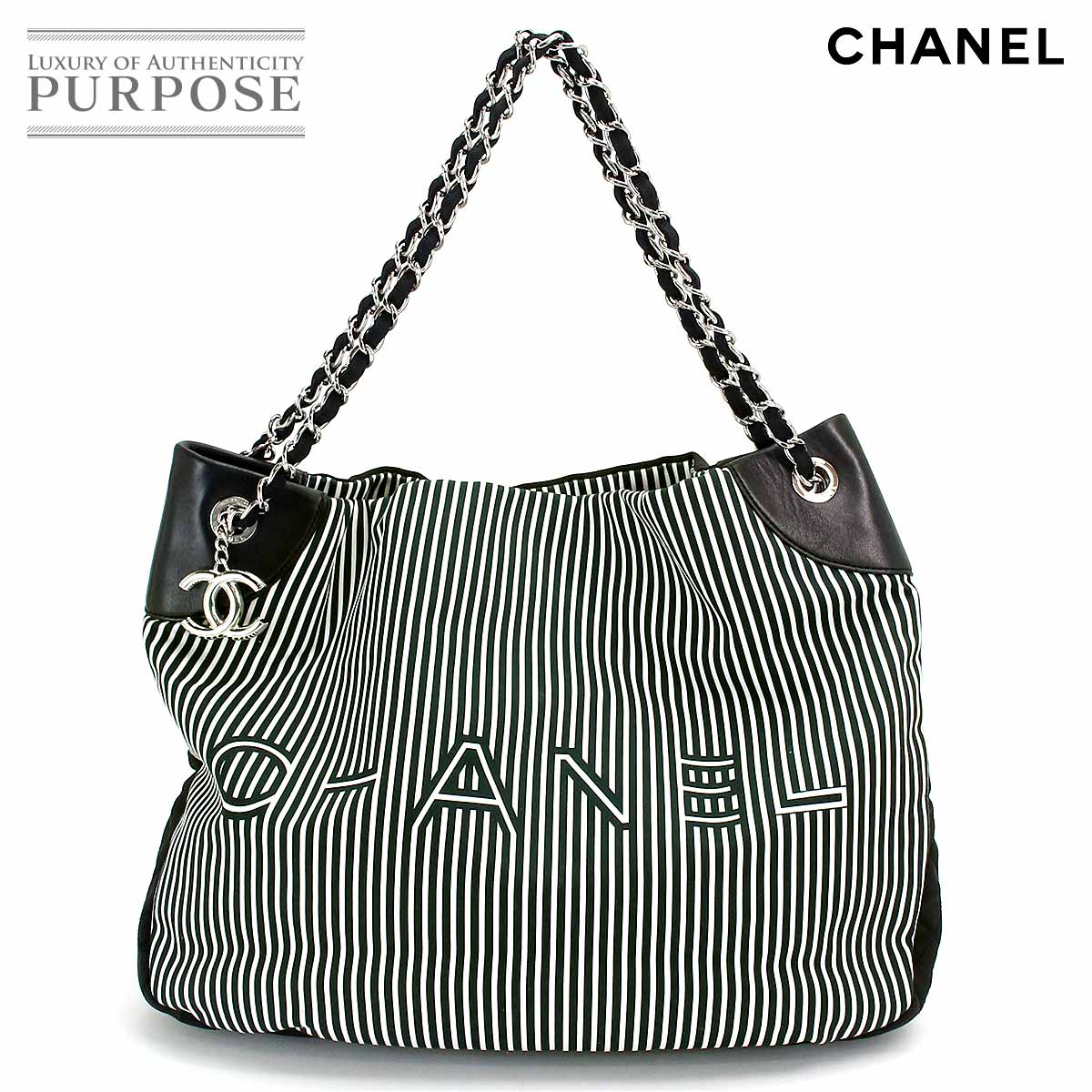 dc6e984ce938d1 [unused display] Chanel CHANEL Cruise line 2way chain Thoth shoulder bag  canvas leather black white A47915 [used] brand