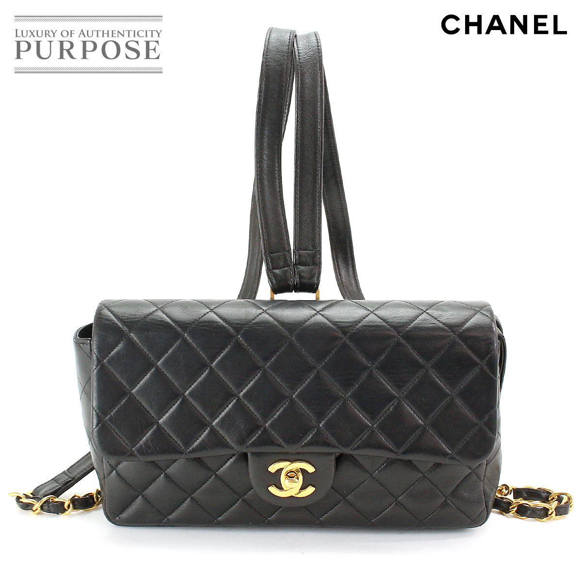 4d8943478829 Chanel CHANEL matelasse chain rucksack backpack leather black [used] brand