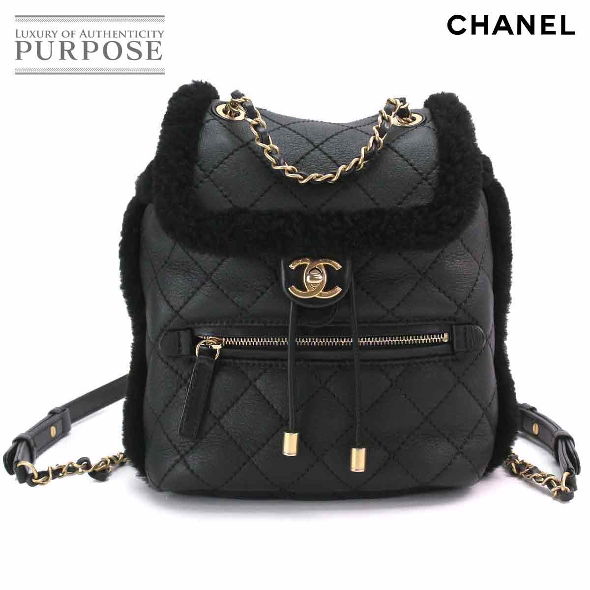 ad3c78968322 [unused display] Chanel CHANEL matelasse chain backpack rucksack leather  mouton black A57497 [used] brand