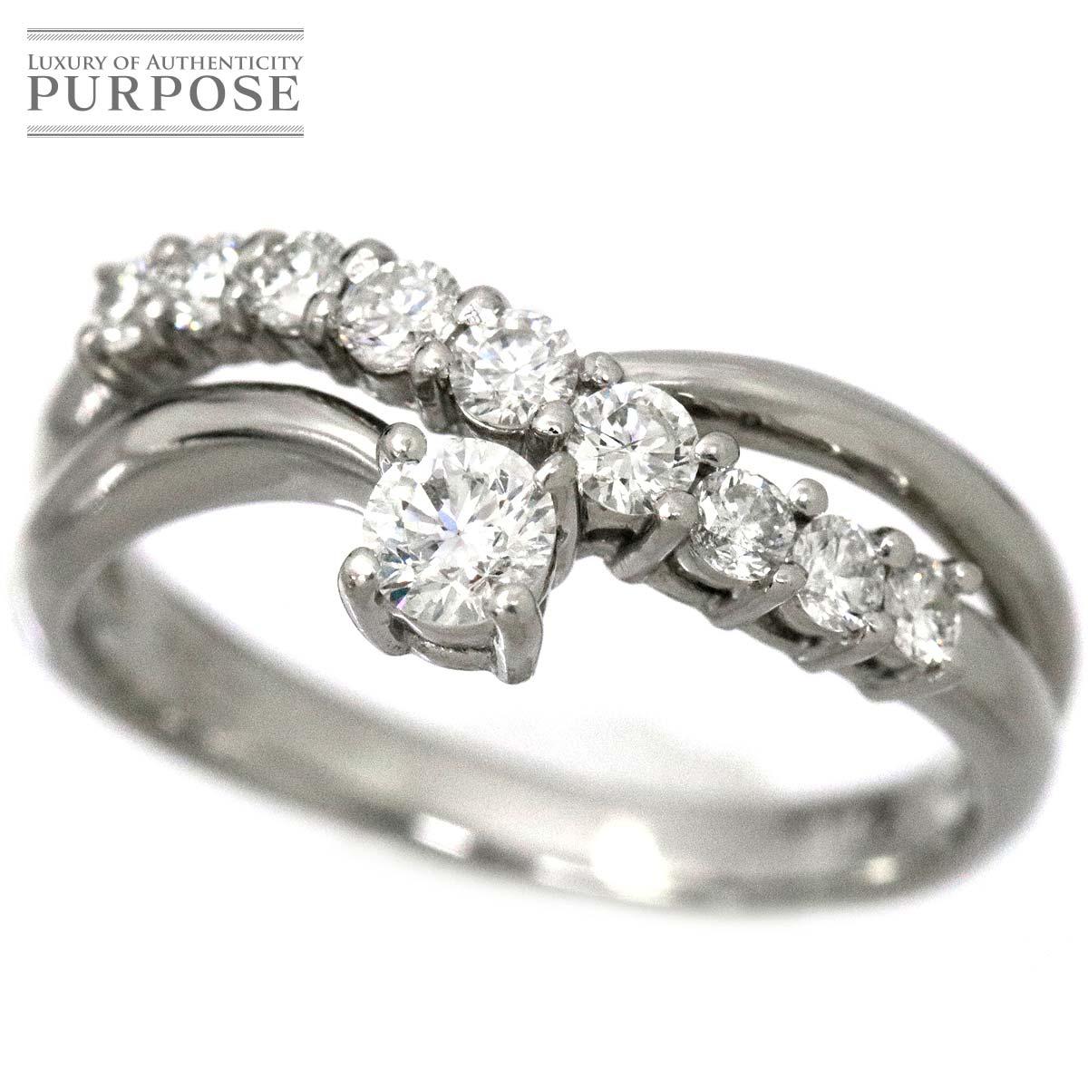 【新品仕上げ】 ダイヤ 0.50ct Pt プラチナ リング 12号 ダイア 指輪 【中古】