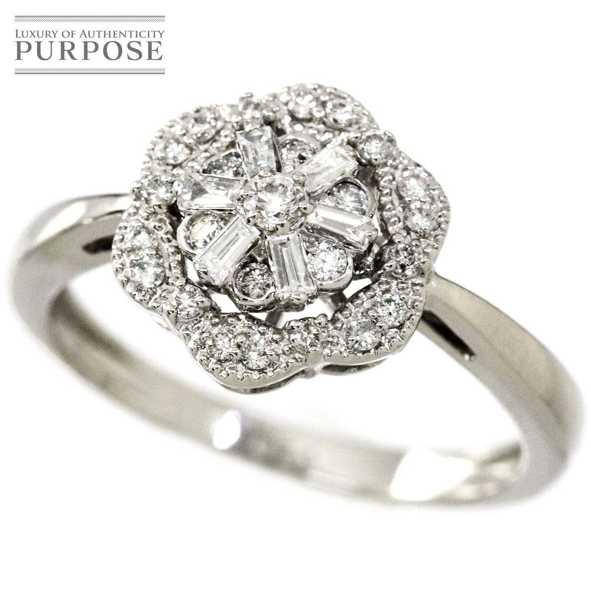 【新品仕上げ】 ダイヤ 0.33ct K18WG リング 11.5号 18金ホワイトゴールド ダイア 指輪 【中古】