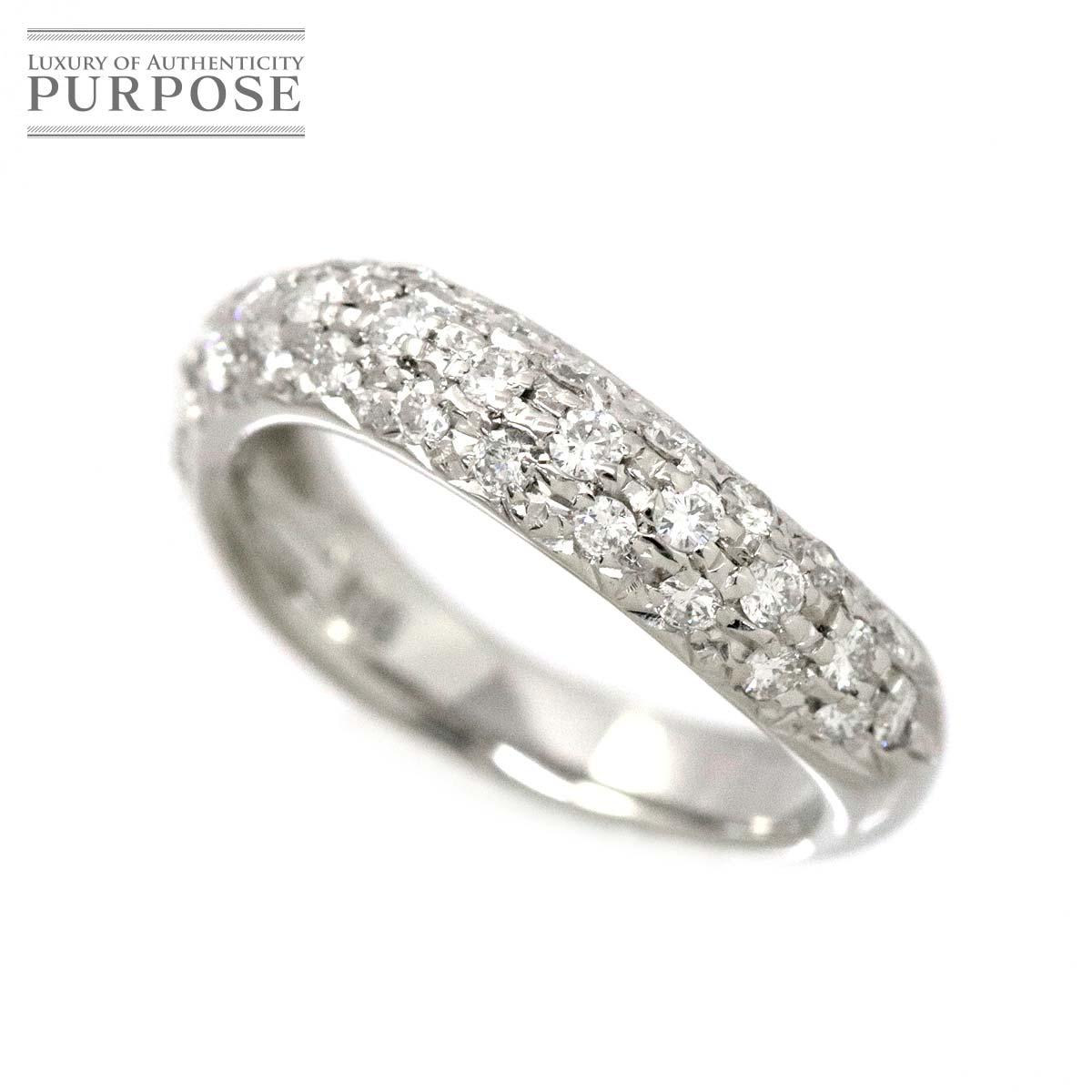 【新品仕上げ】 ダイヤ 0.41ct K18WG リング 4号 ピンキー 18金ホワイトゴールド ダイア 指輪 【中古】