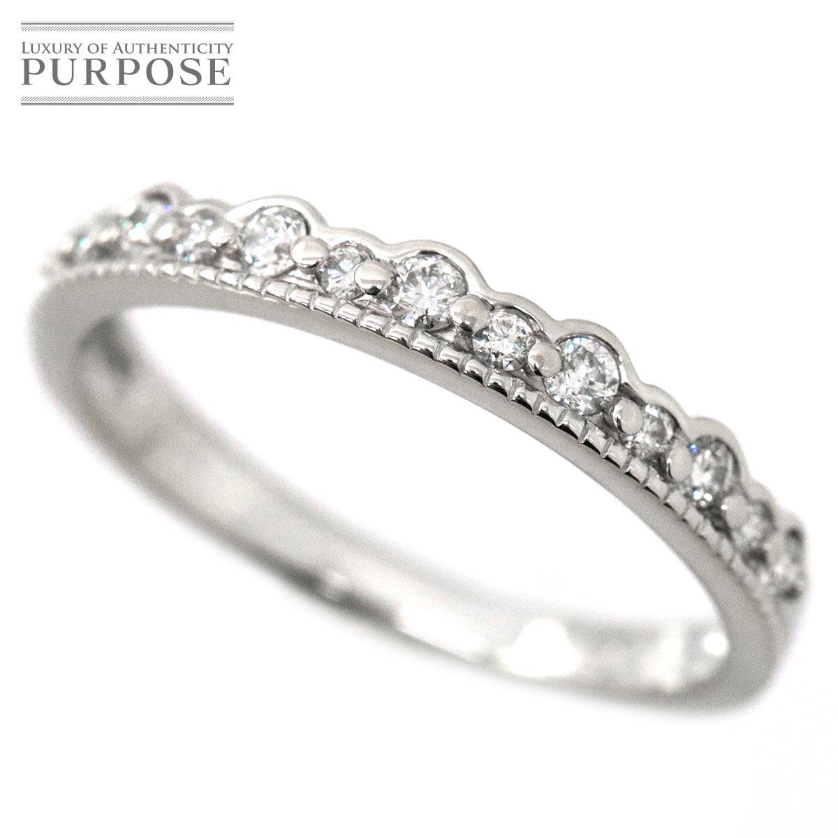 【新品仕上げ】 ダイヤ 0.20ct K18WG リング 10号 18金ホワイトゴールド ダイア 指輪 【中古】