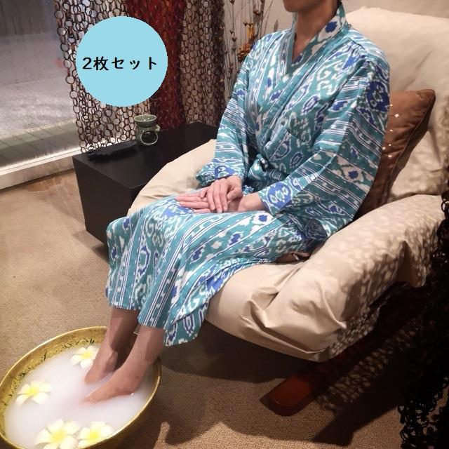 【2枚セット】バスローブ Aタイプ オリジナル バリ ハンドメイド フリーサイズ おしゃれ バリ アジアン サロン愛用