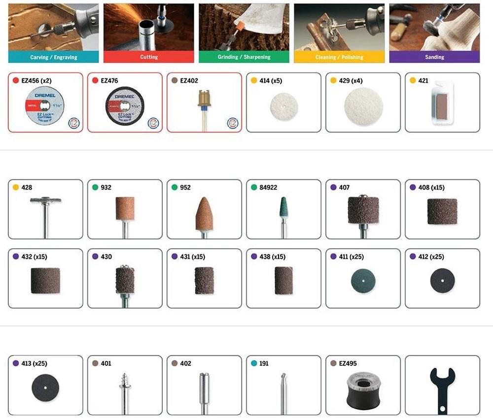 (ドレメル)アクセサリーキット 710-08 , 160ピース [並行輸入品] 工具 ツール ドリル Dremel