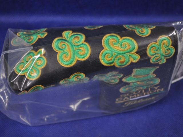 【即納】【あす楽対応】★スコッティキャメロン セントパトリクスデイヘッドカバー 2011年モデル SCOTTY CAMERON 2011 ST. PATRICKS DAY DANCING SC CLOVERS HEADCOVER BLACK 99615 パターカバー ブラック