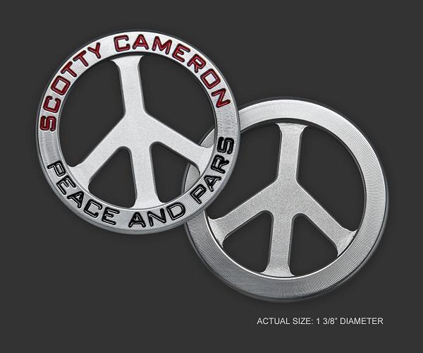 【即納】【あす楽対応】スコッティキャメロン ピース&パーズ ボールマーカー SCOTTY CAMERON COIN 2019 PEACE & PARS BALL MARKER 102164