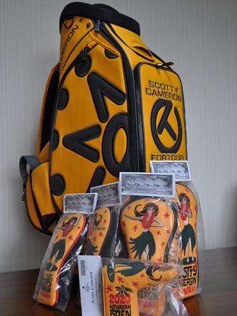 【即納】【あす楽対応】スコッティキャメロン サークルT スタッフバッグヘッドカバーセット SCOTTY CAMERON 2020 7 POINT CROWN STAFF BAG HC SET YELLOW 102167S