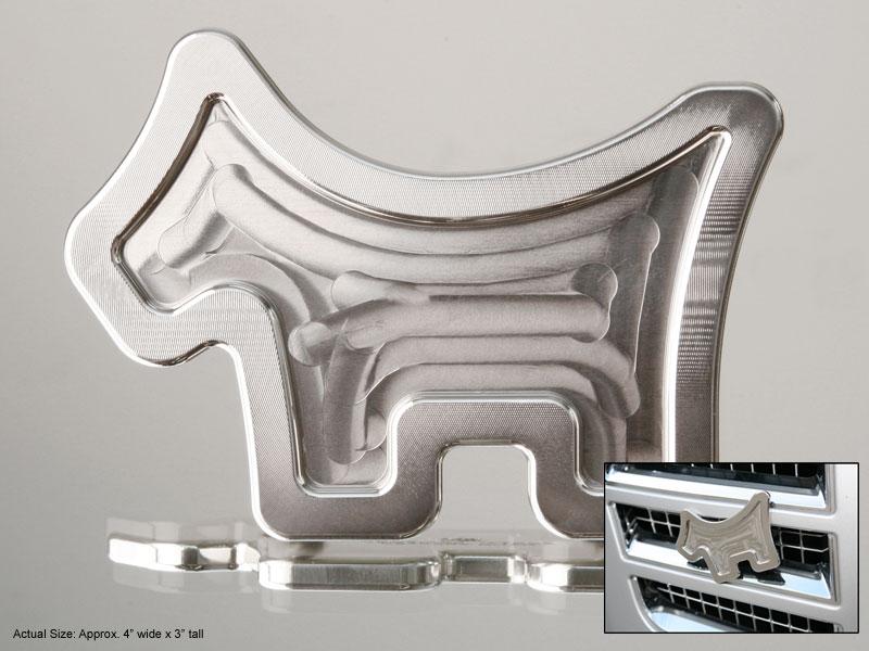 【即納】【あす楽対応】スコッティキャメロン スコッティドッグカーバッジ SCOTTY CAMERON 2011 SCOTTY DOG MILLED STAINLESS CAR BADGE 99616
