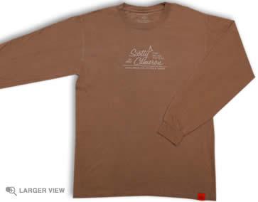 【即納】【あす楽対応】★スコッティーキャメロン アウター Tシャツ SCOTTY CAMERON 2009年モデル CARLSBAD CHROMAZONE T SHIRT COCO BROWN L/S LARGE 96069