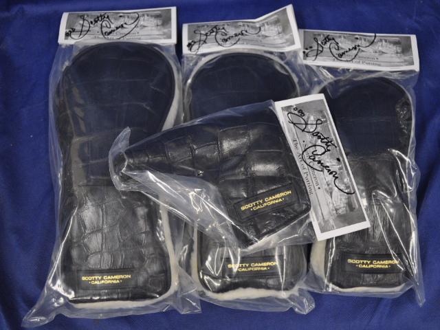 【即納】★スコッティーキャメロン アリゲーターヘッドカバーセット CAMERON 2013年モデル EXOTIC ALLIGATOR HEADCOVERS SET BLACK STALION 100236-9