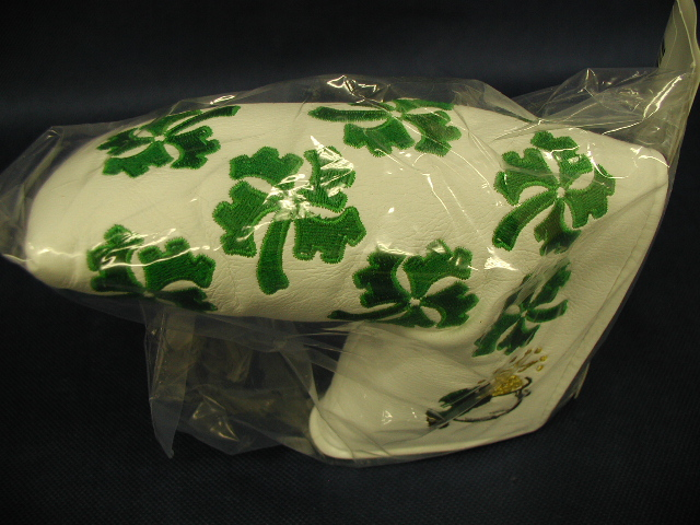 【即納】★スコッティキャメロン ラッキークローバーヘッドカバー 2008年モデル SCOTTY CAMERON 2008 SCOTTY DOG LUCKY CLOVER HEADCOVER WHITE 1/500 69023