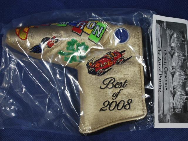 【即納】【あす楽対応】★スコッティキャメロン ヘッドカバー 2008ベストオブホリデー  SCOTTY CAMERON 2008年モデル BEST OF HOLIDAY HEADCOVER GOLD 70526
