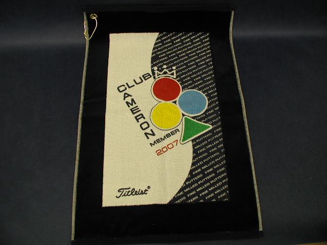 【即納】【あす楽対応】★スコッティーキャメロン アウター タオル SCOTTY CAMERON 2007年モデル CLUB CAMERON MEMBER CADDIE TOWEL NAVY AND WHITE