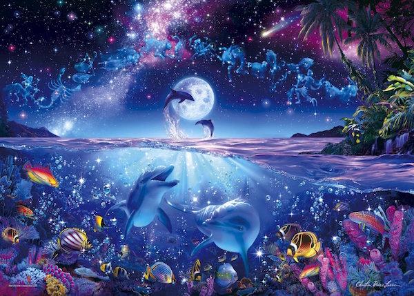 ジグソーパズル 3000ピース ラッセン 星に願いを スモールピース 光るパズル (73x102cm)(21-701) エポック社 梱100cm t101