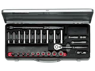 【KTC工具】 3/8 9.5sq スタンダード・ディープ混合ソケット・レンチ セット (28点) / TB3X20 送料無料
