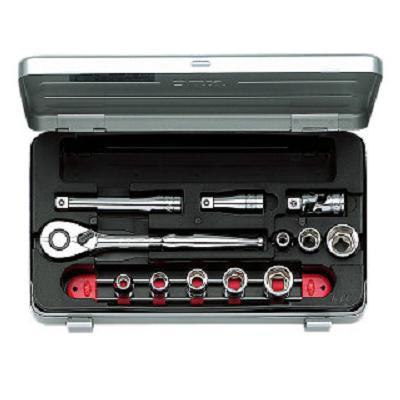 【KTC工具】 3/8 9.5sq 6角 スタンダードソケット・レンチ セット (14点:7~19mm) / TB308 送料無料