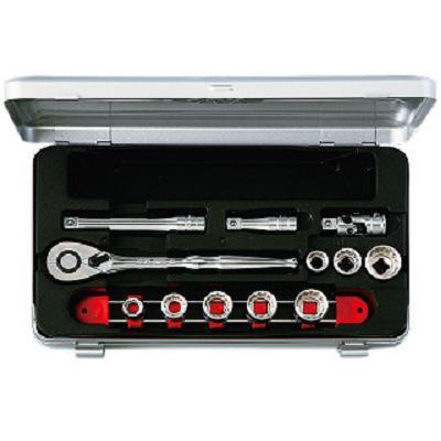 【KTC工具】 3/8 9.5sq 6角・12角混合 ソケット・レンチ セット (インチ 14点) / TB308BX 送料無料