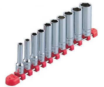 【KTC工具】21C-【KTC工具】 3/8 (9.5sq ) 6角 ディープソケッ-ホルダー付きセット(11点7mm~22mm) /TB3L10 送料無料