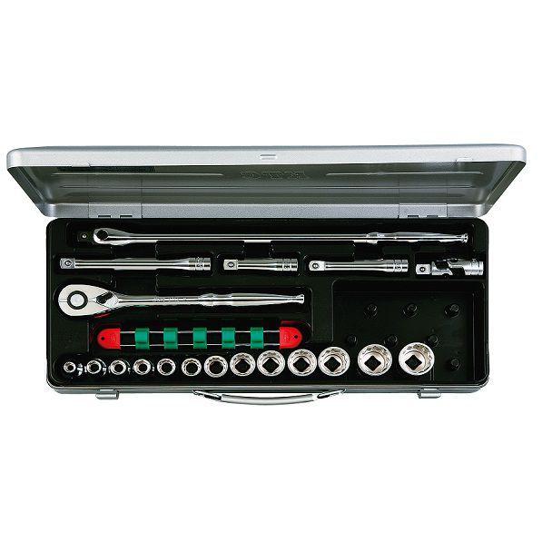 【KTC工具】 12.7sq スタンダードソケットセット(メタルケース付き) 6角 12角 19点 / TB413X 送料無料