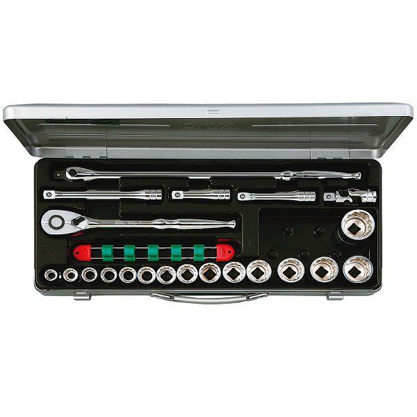 【KTC工具】 12.7sq インチセット(メタルケース付き) 6角 12角 21点 / TB415BX 送料無料