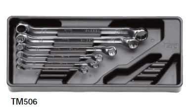 【KTC工具】 45°ロング めがねレンチセット (6本組) インチ / TM506B 送料無料