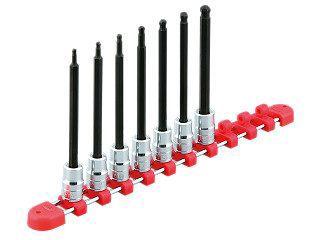 【KTC工具】 9.5sq. ロングボールポイントヘキサゴンビットソケットセット[7コ組] / TBT3L07BPBH 送料無料