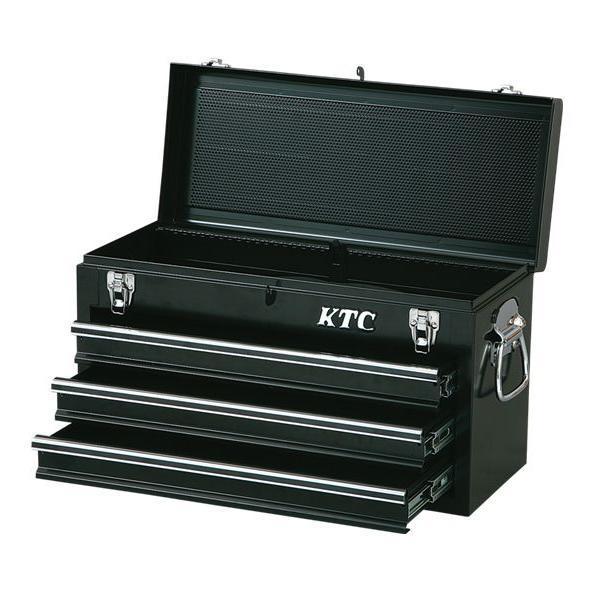 【KTC工具】 3段3引出しチェスト ( ソリッドブラック ) / SKX0213BK 送料無料