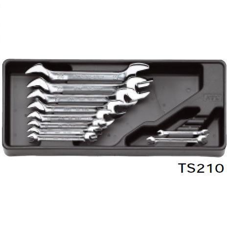 【KTC工具】 スパナセット (ミリ 10本組:5.5×7~24×27) / TS210 送料無料