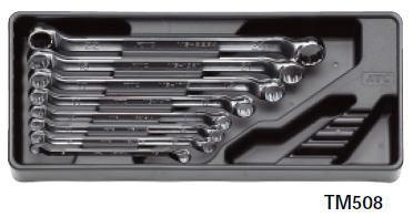 【KTC工具】 45℃×6℃ ロング めがねレンチ セット (8本組) / TM508 送料無料