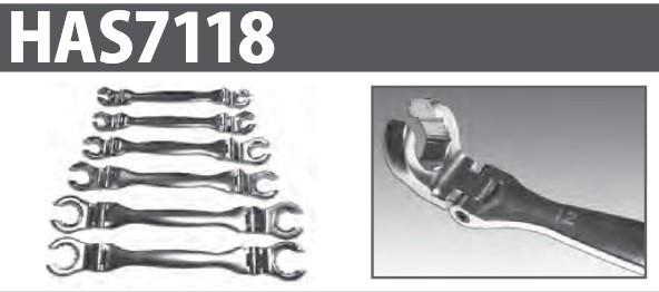 ハスコー フレキシブルオープンリングスパナ HAS7118 送料無料