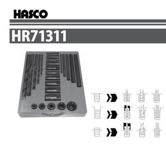 ハスコー 逆タップセット HR71311 送料無料