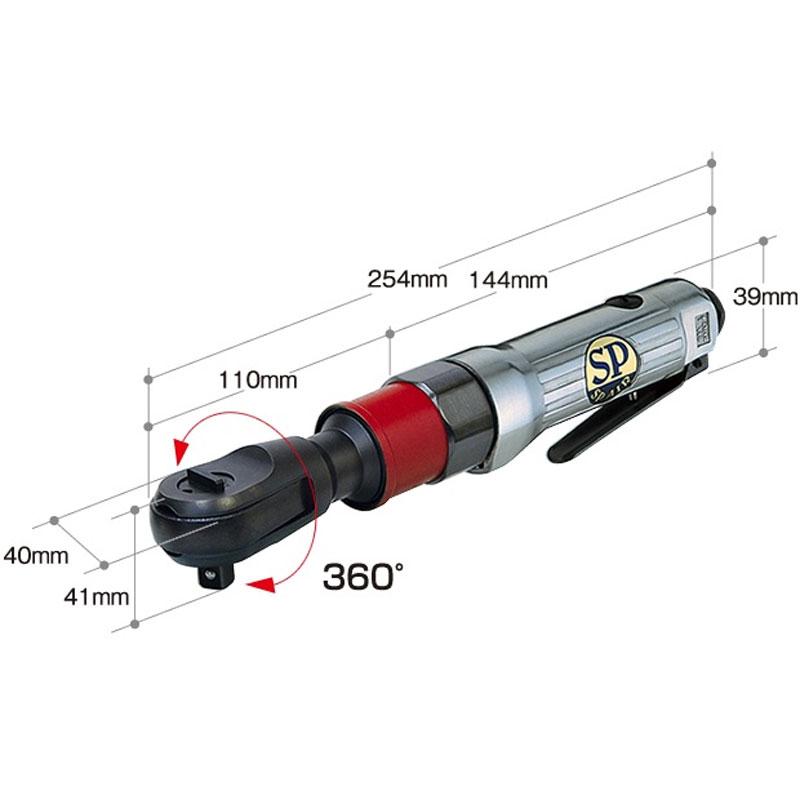 首振り 9.5mm ラチェットレンチ SP AIR エスピーエアー SP1133RH SP-1133RH 送料無料