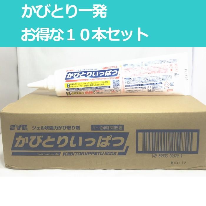 業務用 カビ取り剤 低臭タイプ カビとり一発 500g 10本 セット (y-1010011111-10) 送料無料