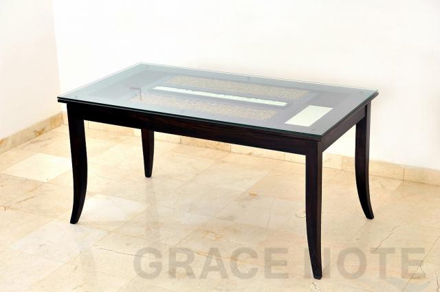 GRACE NOTE  ダイニングテーブル(ガラス込) WDT-05 ウォーターヒヤシス バリ 家具 グレイスノート