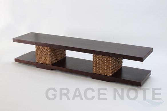GRACE NOTE  ヒヤシンステレビボード WTV-03 ウォーターヒヤシンス マホガニー テレビ台 バリ 家具 グレイスノート