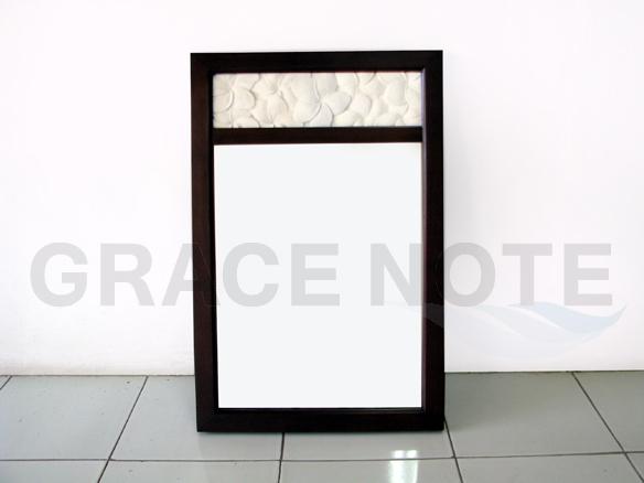 GRACE NOTE  カービングミラー SMR-01 マカボニー材 鏡 バリ 家具 グレイスノート