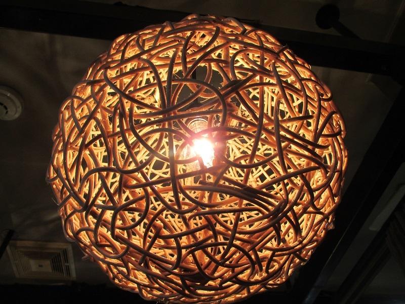 ラタンボール ランプ (ナチュラル) アジアン バリ 雑貨 インテリア