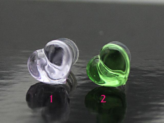 大人気 ハートカラータイプガラスのボディピアス ボディピアス 即納 ガラスボディピアス☆ハート2G:6ミリサイズ カラーパイレックスガラス