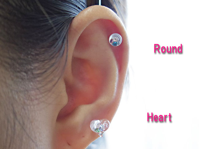 New Work Body Piercing Round Gl 8g 3 Millimeters Of Size