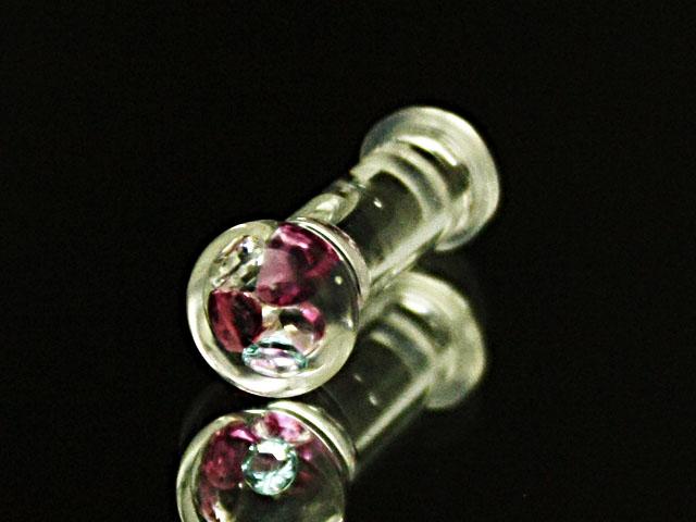 6Gガラスのボディピアス手作り1点もの制作品 商品 新作 公式通販 ボディピアス ボディピアス☆ラウンドガラス6G:4ミリサイズ