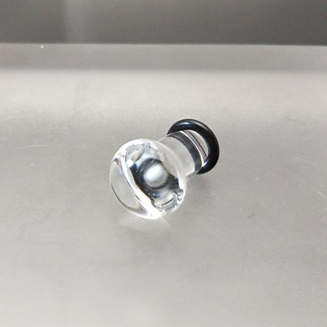 最新アイテム 0Gガラスボディピアス手作り 着け心地良く身体に優しいアレルギーフリー ガラスボディピアス☆ラウンド0G:8ミリサイズパイレックスクリアーガラス お歳暮 ボディピアス